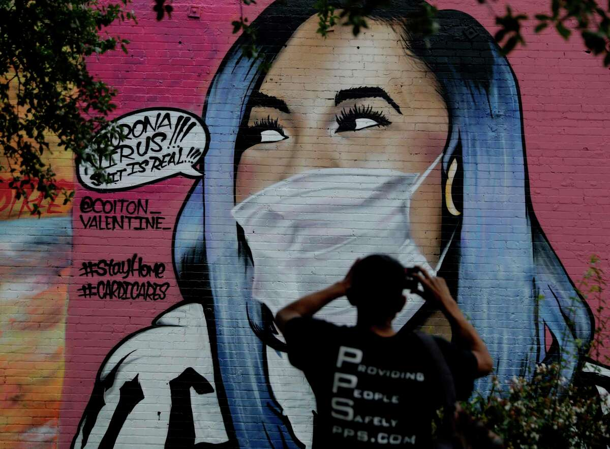 Street Artists Take On Coronavirus With Graffiti In Houston And Beyond