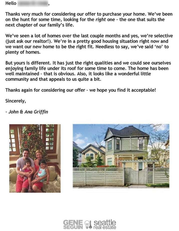 Dear seller\u0027 letters work for home buyers - seattlepi