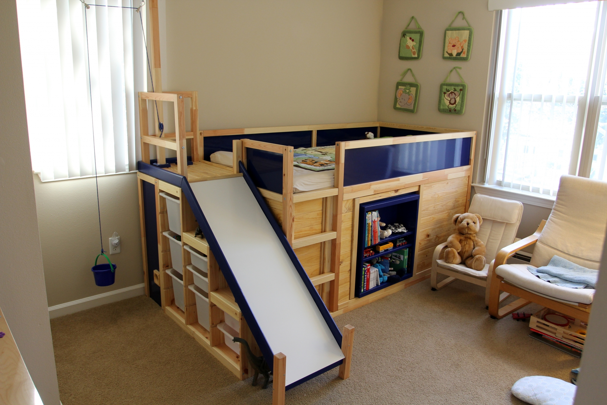 Fold Away Bed Ikea Learn How To Make An Awesome Kids Bed With Ikea Parts From A