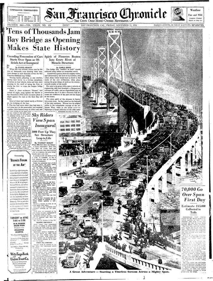 Chronicle Covers Bay Bridge, a \u0027wonder of the world,\u0027 opens to awes - og and e
