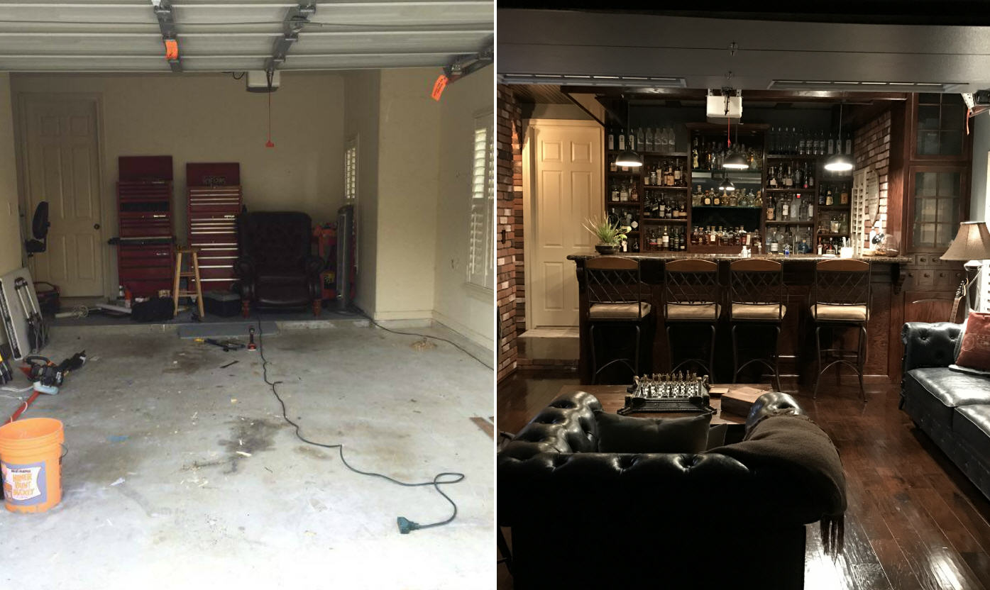 Garage Conversion Man Cave Houston Man Rehabs His Garage To Create An Epic Man Cave Laredo