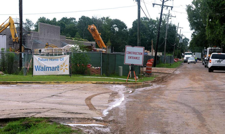 Super Walmart progresses in Vidor - Beaumont Enterprise