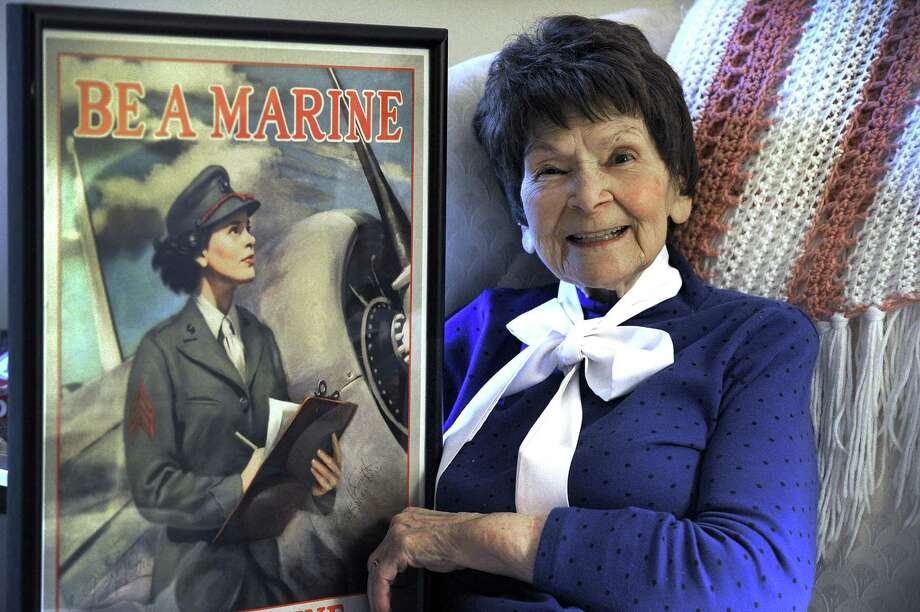 New Milford woman recalls service in former Marine women\u0027s Reserve
