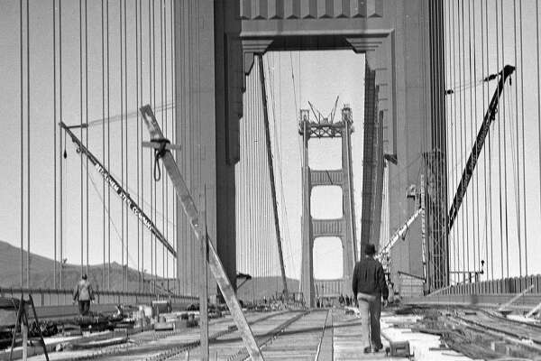 1930s Golden Gate Bridge construction photos rescued from ruin