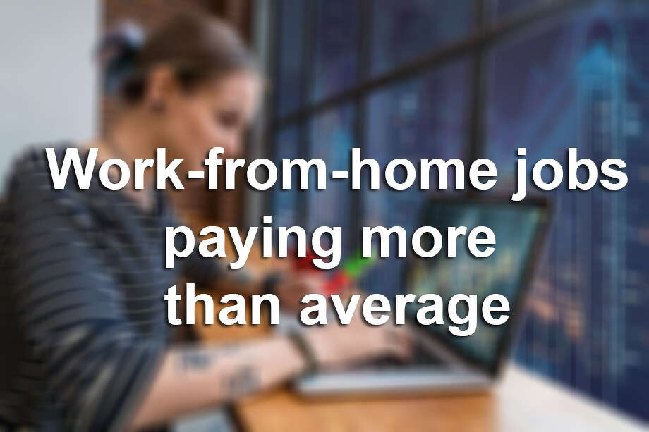 50 work-from-home jobs paying as much, or more than, the average