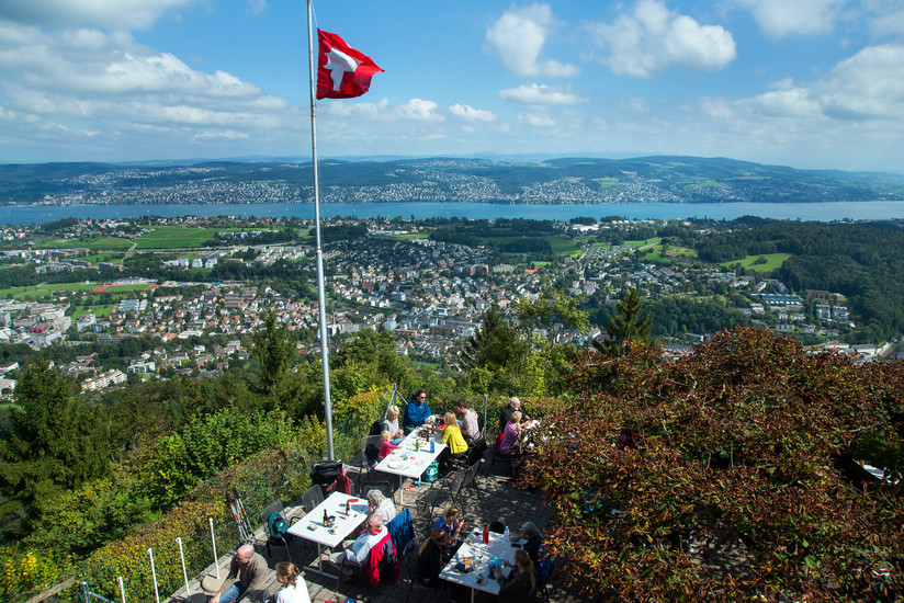 Lake Zurich Travel Felsenegg Lookout Leisure Activities Sports Zurich