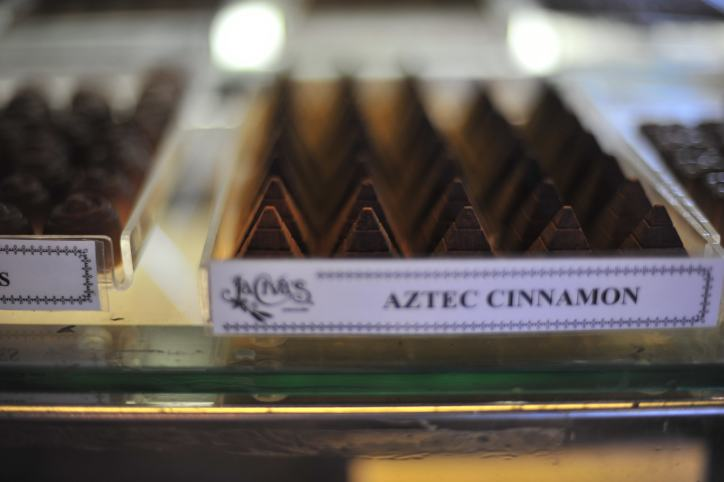 Aztec cinnamon chocolates