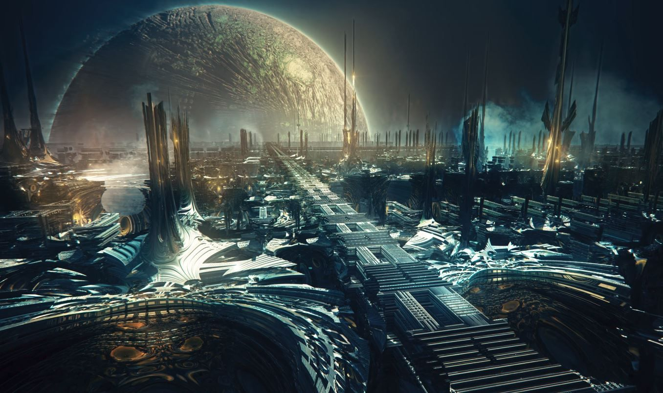 Futuristic Iphone X Wallpaper Artificial Intelligence Imagines Alien Worlds In Computer