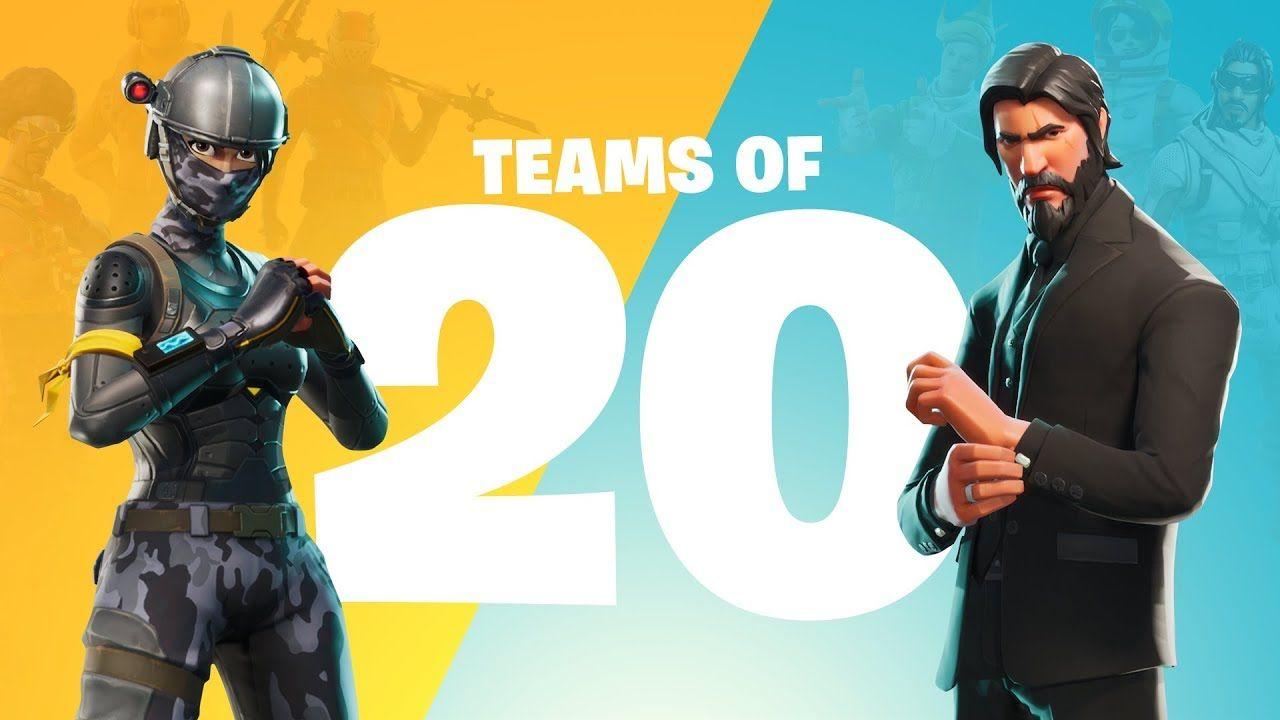 Season 4 Fornite Skins Wallpaper Fortnite 1 48 3 2 Update Adds Teams Of 20 Amp New Skin
