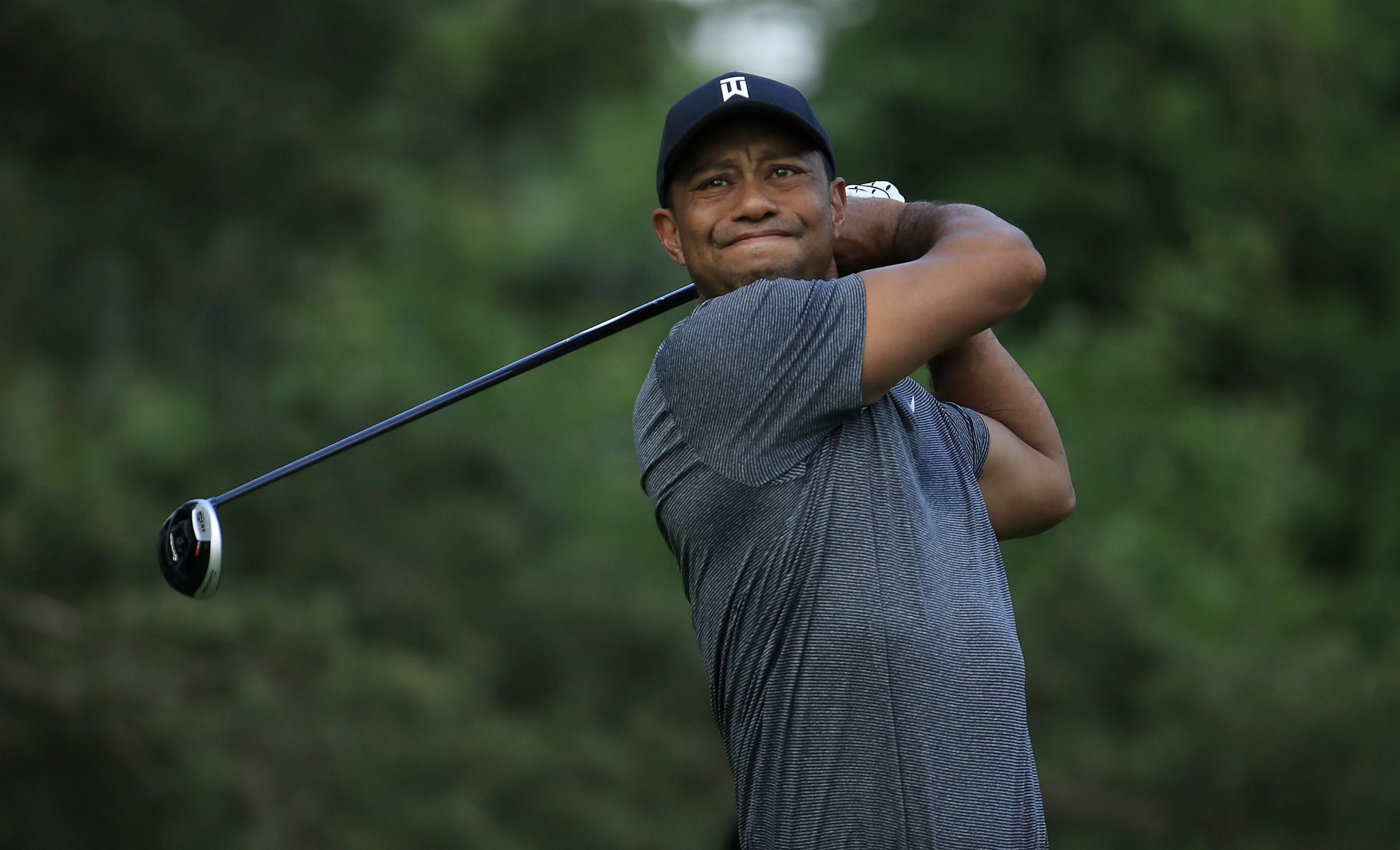 what time does tiger woods tee off tomorrow at the memorial tournament