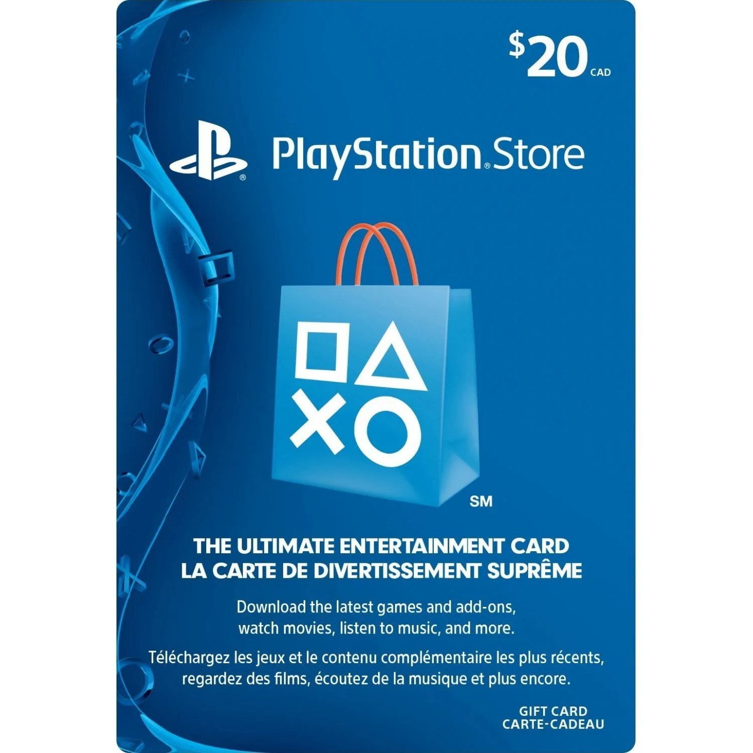 Ps Store Karte Psn Card 20 Cad Playstation Network Canada