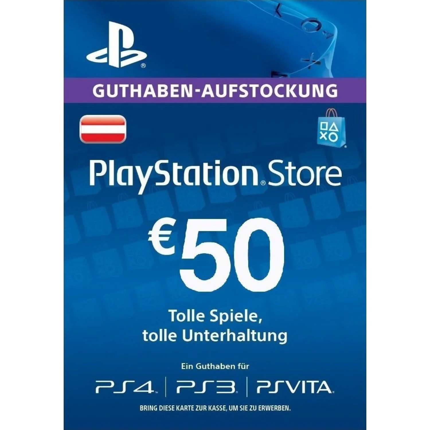 Ps Store Karte Psn Card 50 Eur Playstation Network Austria