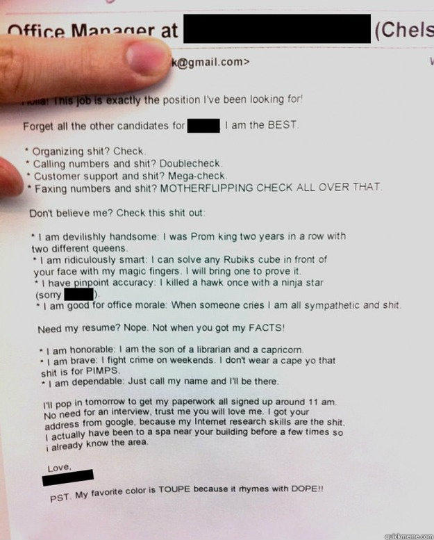 Best Resume Cover Letter Ever Written. is this the best cover ...