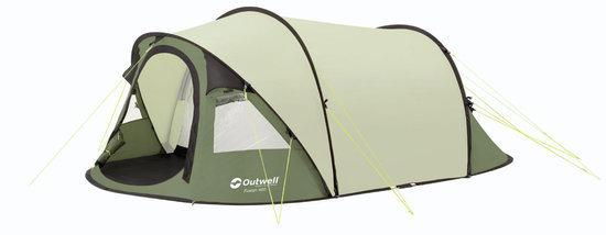 1 Persoons Pop Up Tent Bol.com | Outwell Fusion 400 - Pop-up Tent - Groen - 4