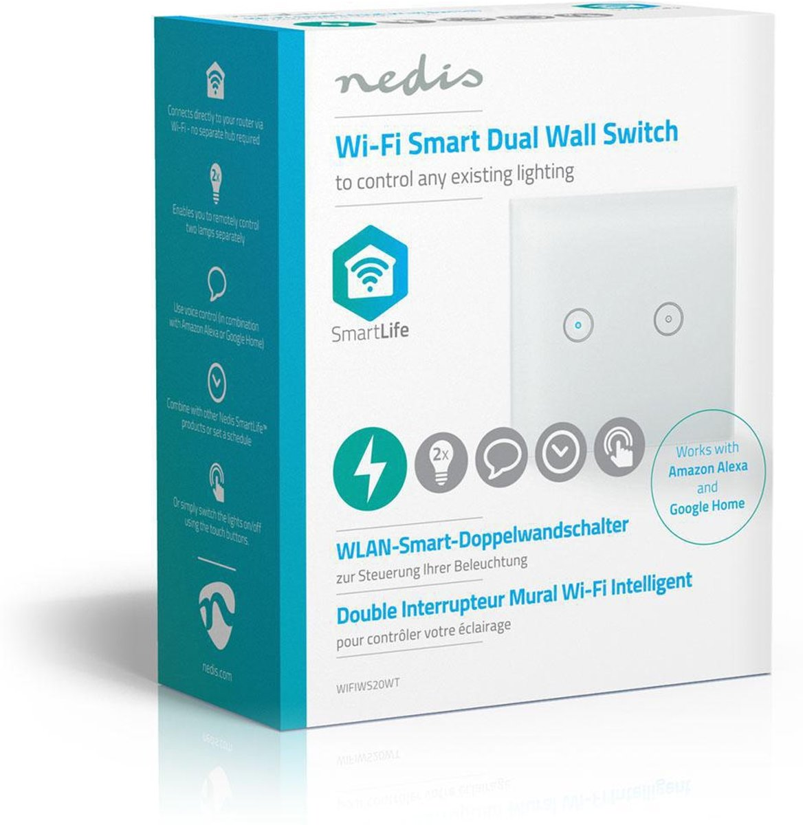 Smart Home Steuerung Nedis Wifiws20wt Smart Home Light Controller Draadloos Wit