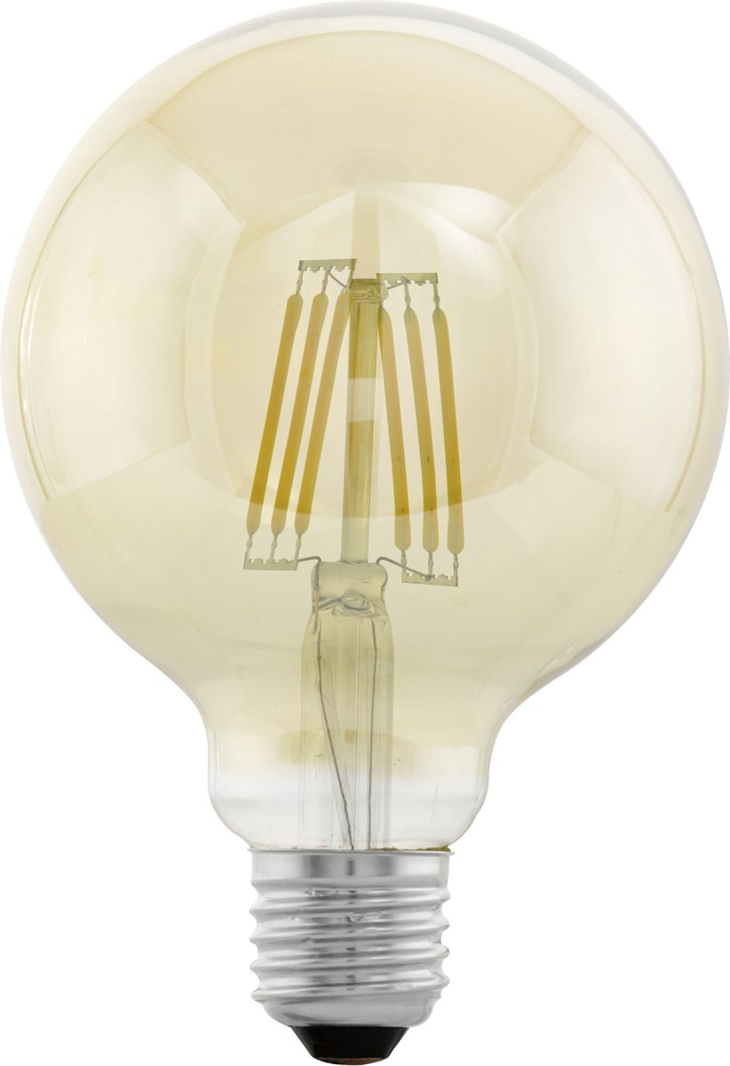 Eglo Verlichting Made Eglo Vintage Led Kooldraadlamp E27 Amberkleurig