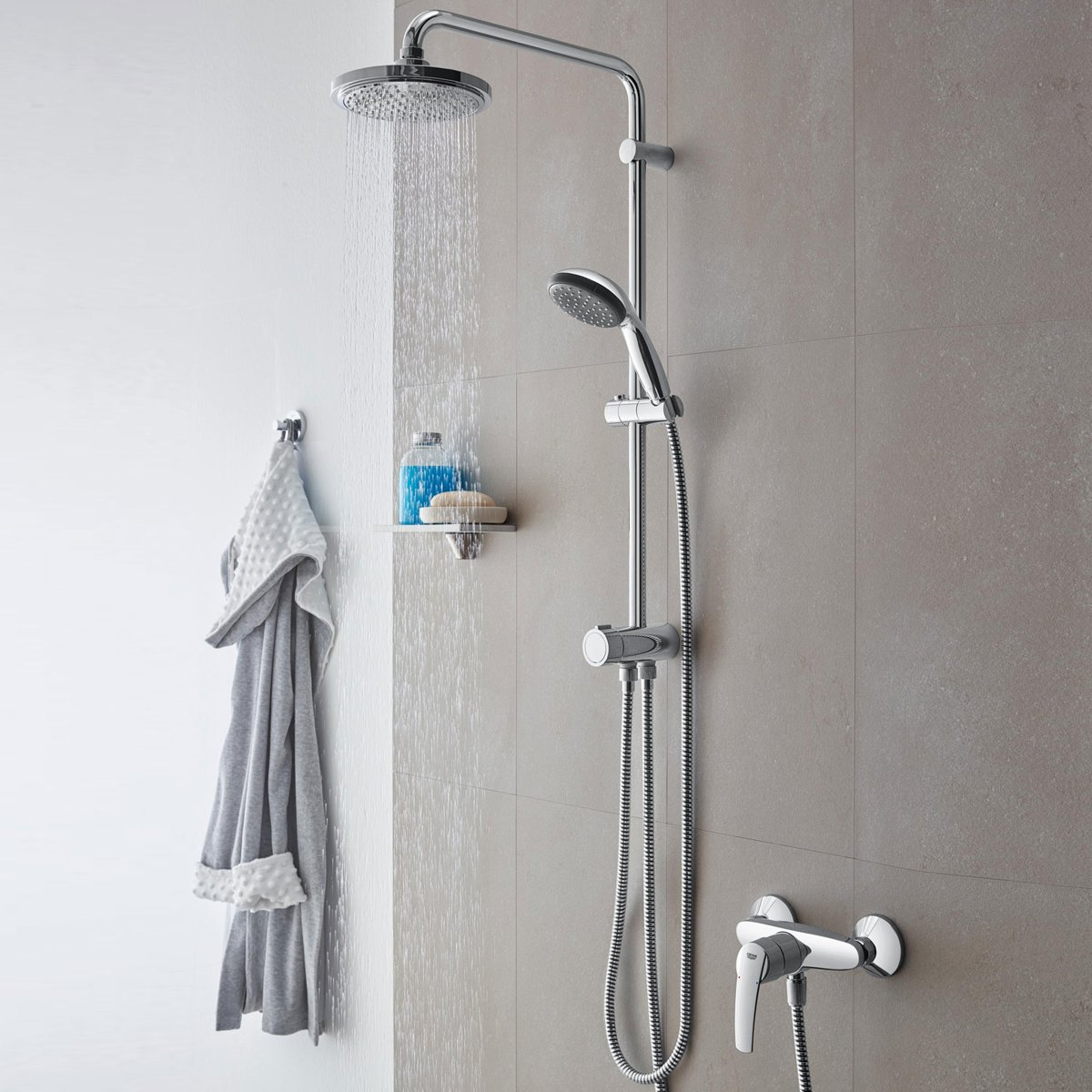 Grohe Doucheset Vitalio Start Grohe Vitalio Start 180 Flex Douchesysteem Met Omstelling Excl Thermostaatkraan