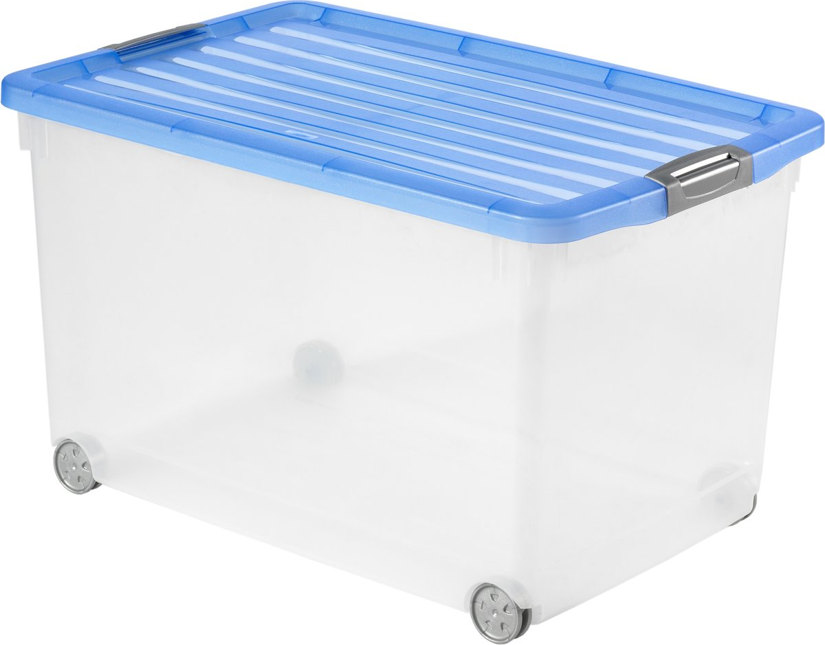 Opbergbox 120 Liter Tontarelli Opbergbox Trendy Opbergbox Qline Box L Transparant