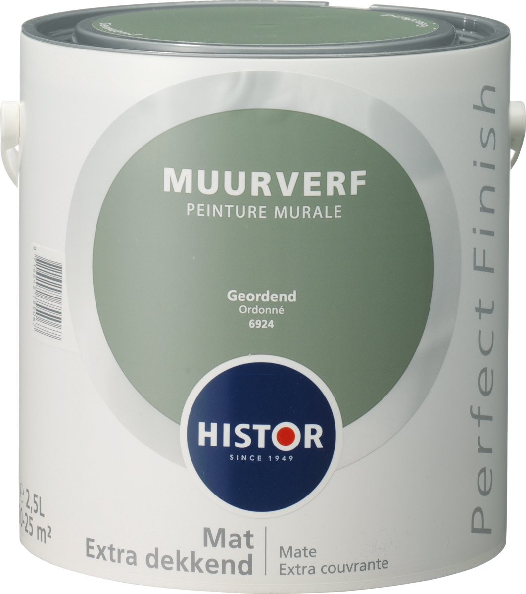 Histor Blauw Histor Perfect Finish Muurverf Mat 2 5 Liter Geordend