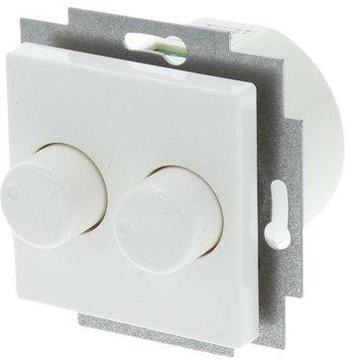 Jung Duo Dimmer Jung As500 Duo Dimmer 2x150w Inbouw Wit