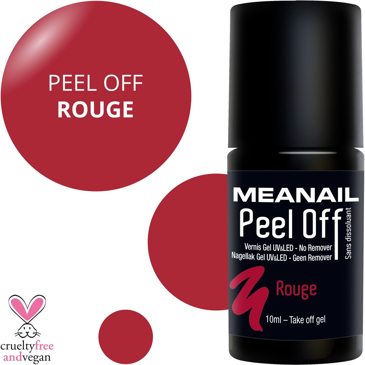 Nagellak Op Kleding Gel Nagellak Peel Off Meanail Paris Rood 10ml