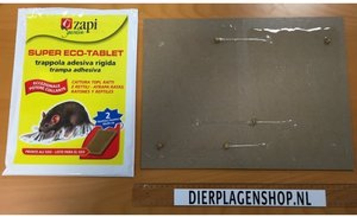 Lijm Voor Muizen Zapi Super Tablet Rats Mice Sticky Trap 20x30 Cm