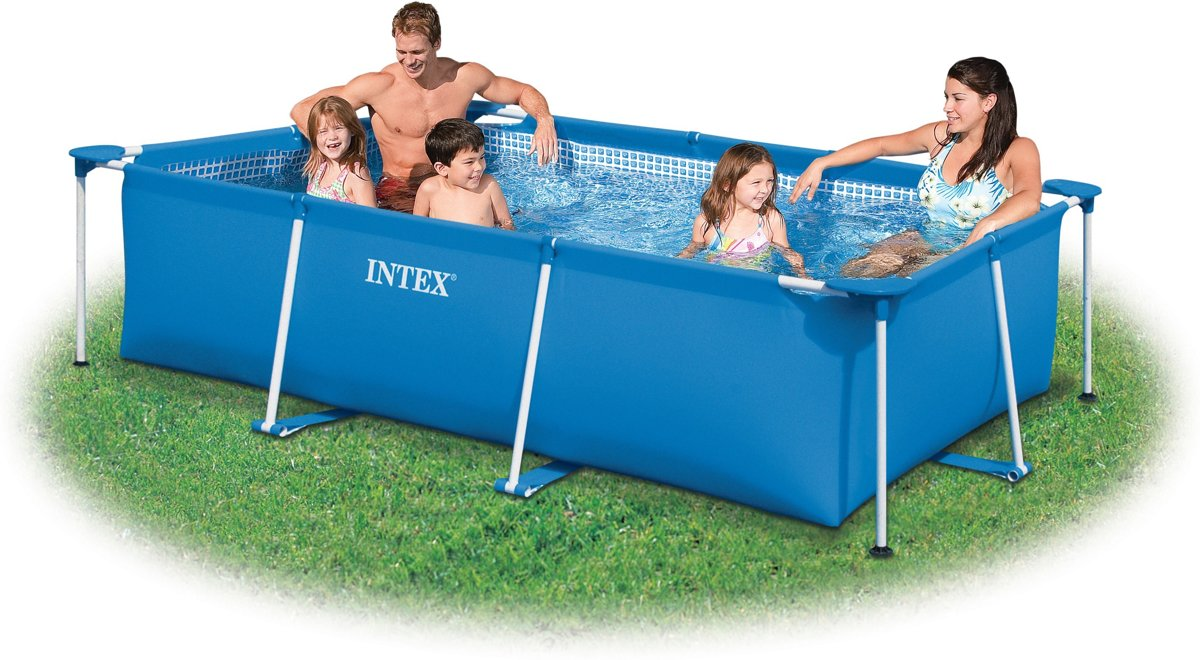 Coolblue Zwembad Intex Intex Family Frame Zwembad 220x150x60cm Opzetzwembad