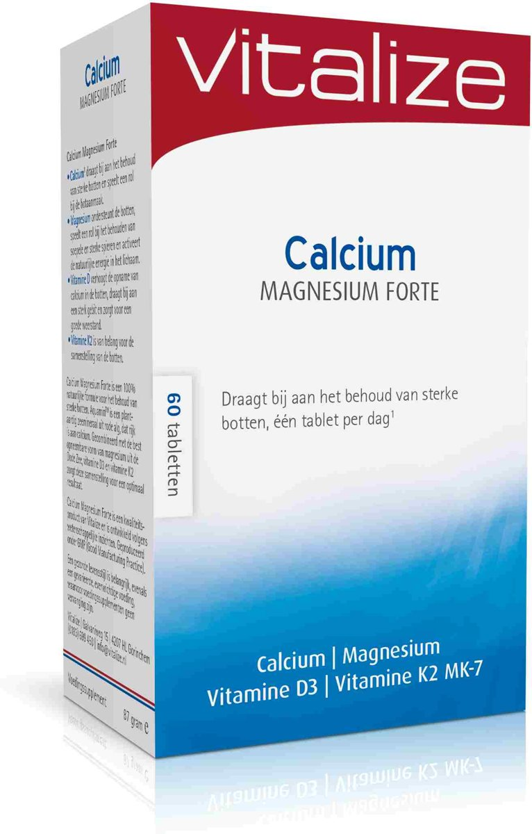 Calcium Tabletten Vitalize Calcium Magnesium Forte 60 Tabletten