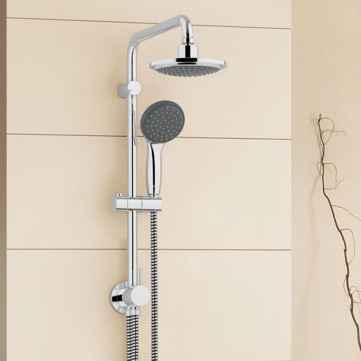 Grohe Euphoria Douchesysteem 180 Chroom Grohe Vitalio Start Douchesysteem Regendouche ø 16 Cm Met Omstelling Chroom