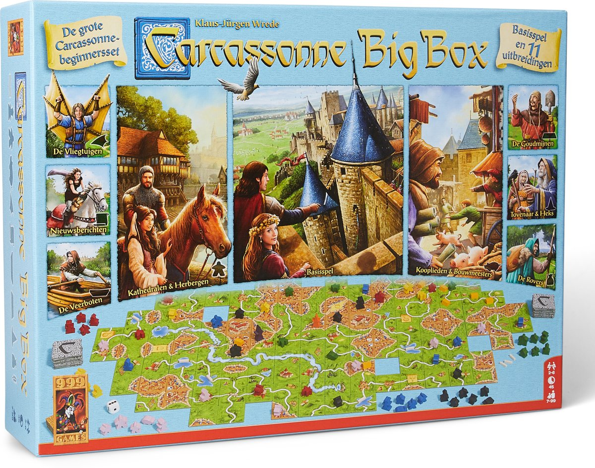 Carcassonne Kopen Carcassonne Big Box 3 Bordspel