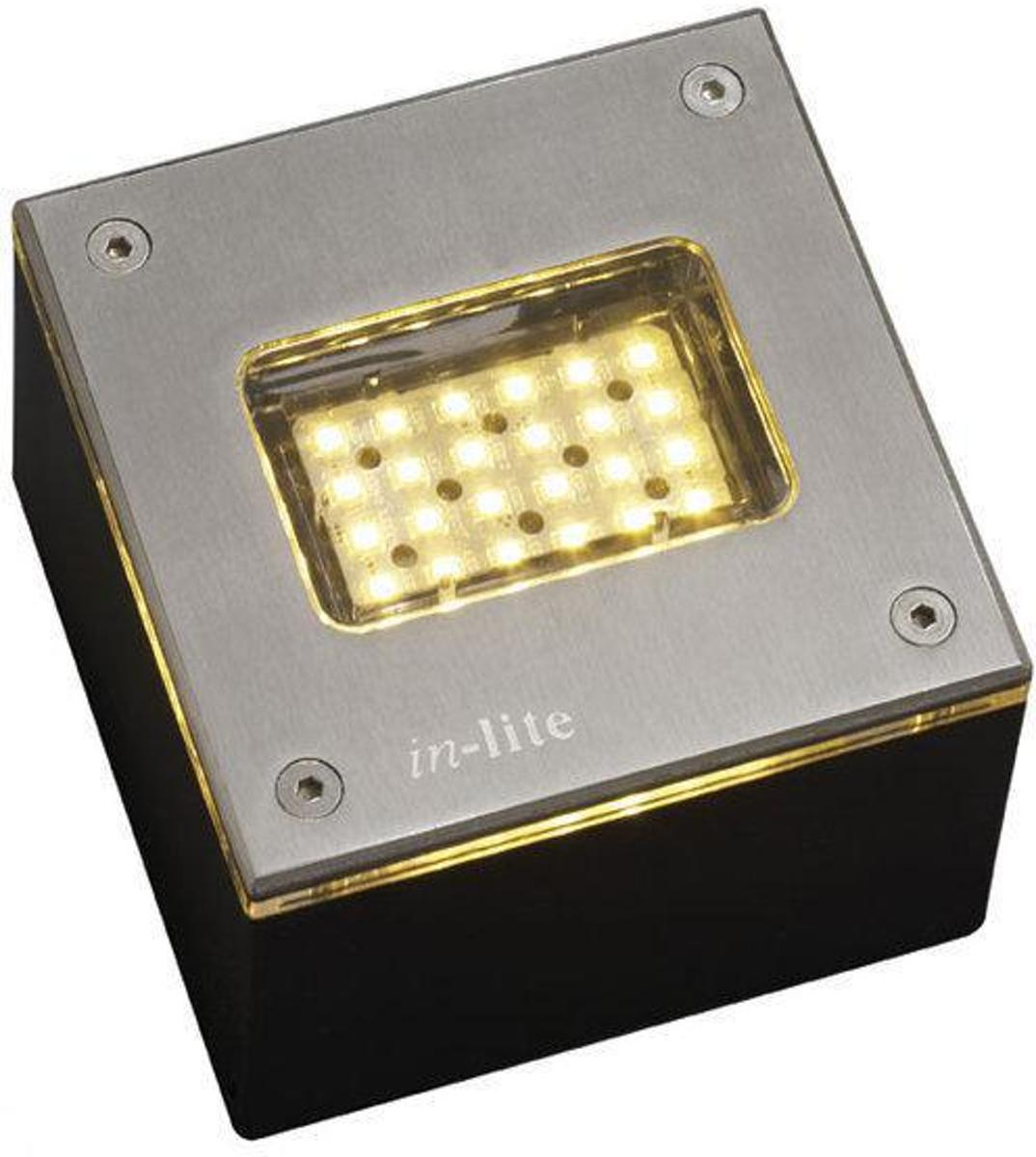 In Lite Verlichting Korting In Lite Padverlichting Flh Led008 Ww Integrated 12v 2w Led Rvs 100x100mm Warm White