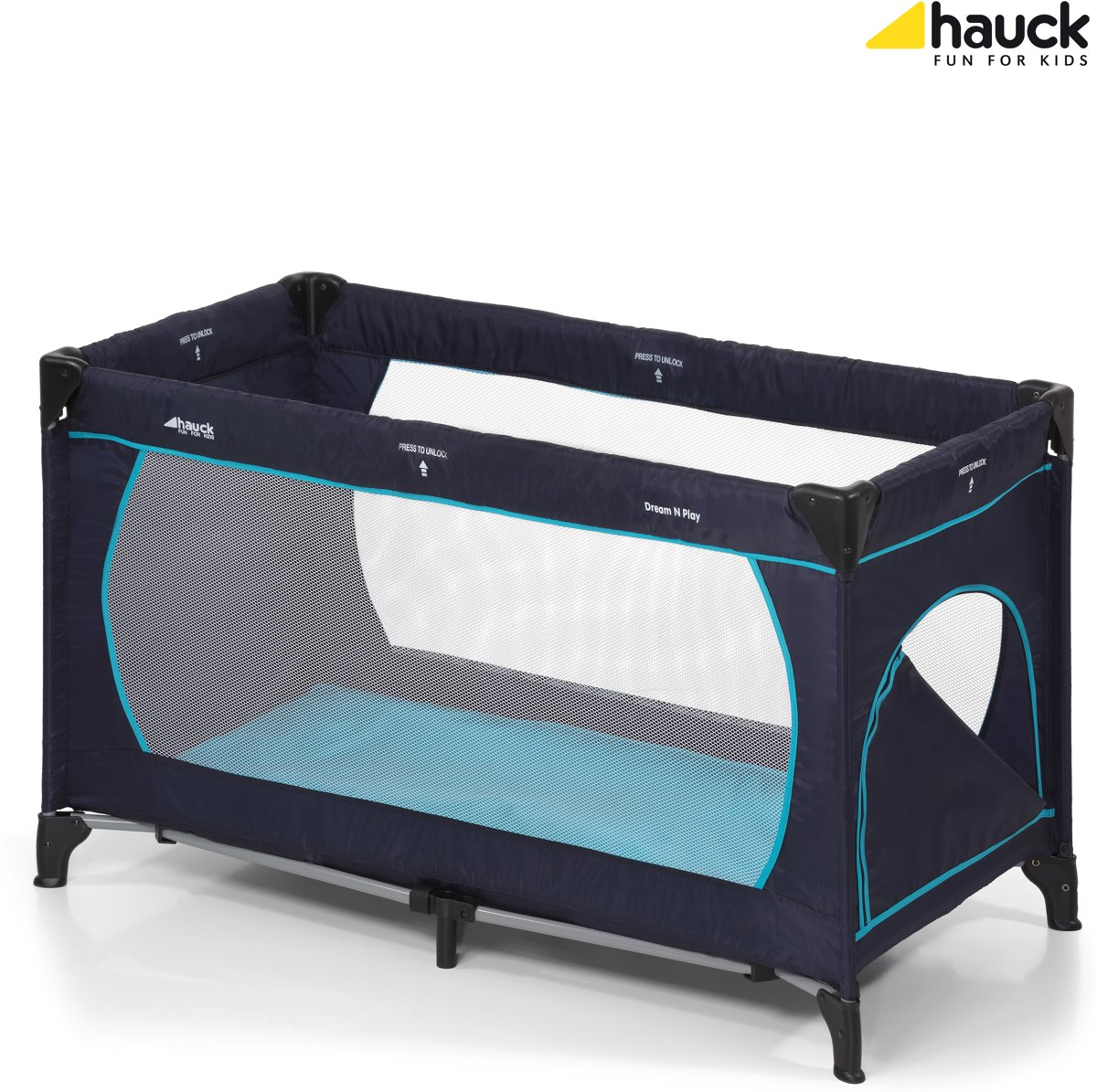 1 Persoons Opklapbed Beautiful Hauck Dreamn Play Plus Navyaqua With Logeerbed