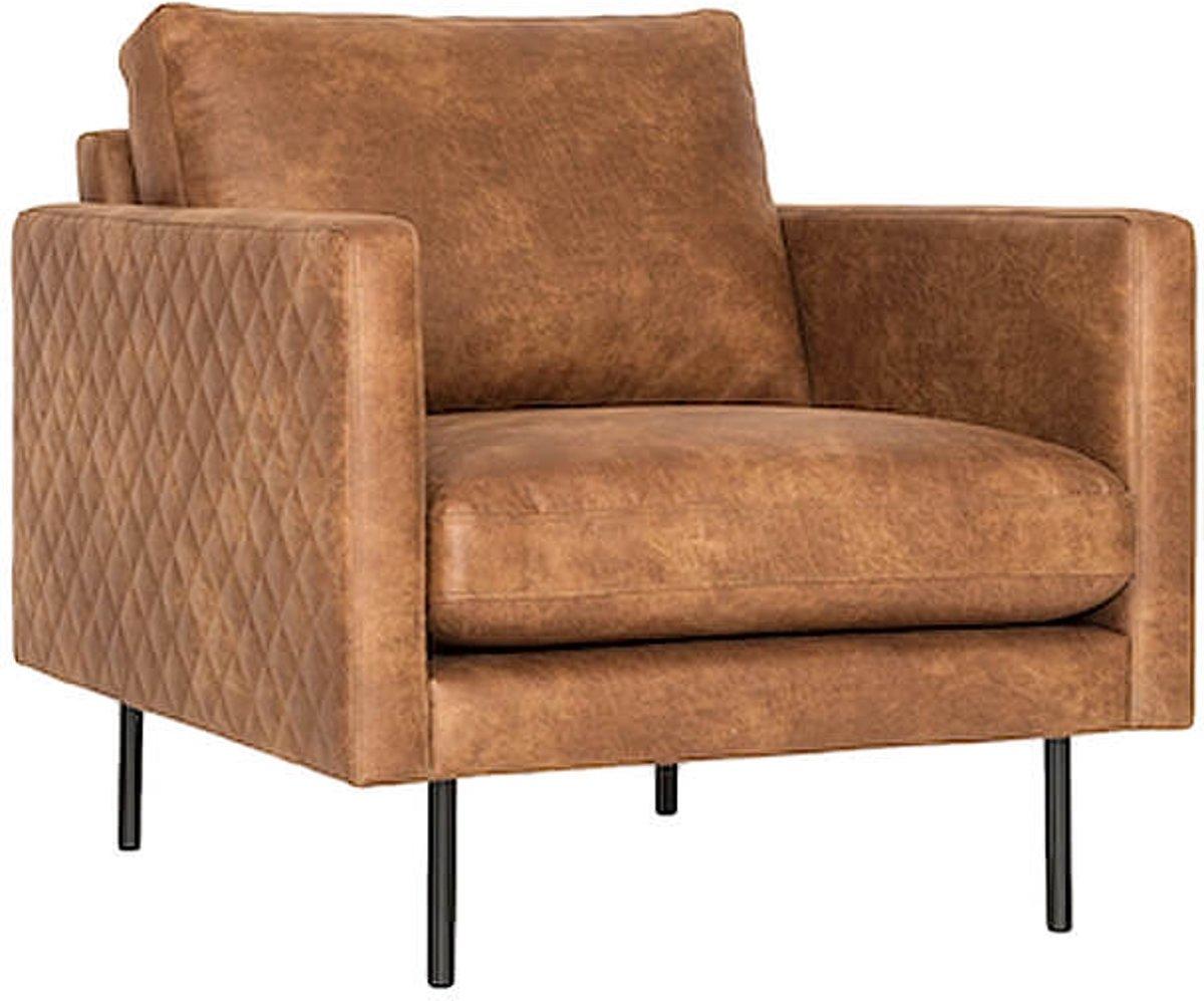 Cognac stoelen goedkoop fauteuil crapaud blanc cuir industrieel