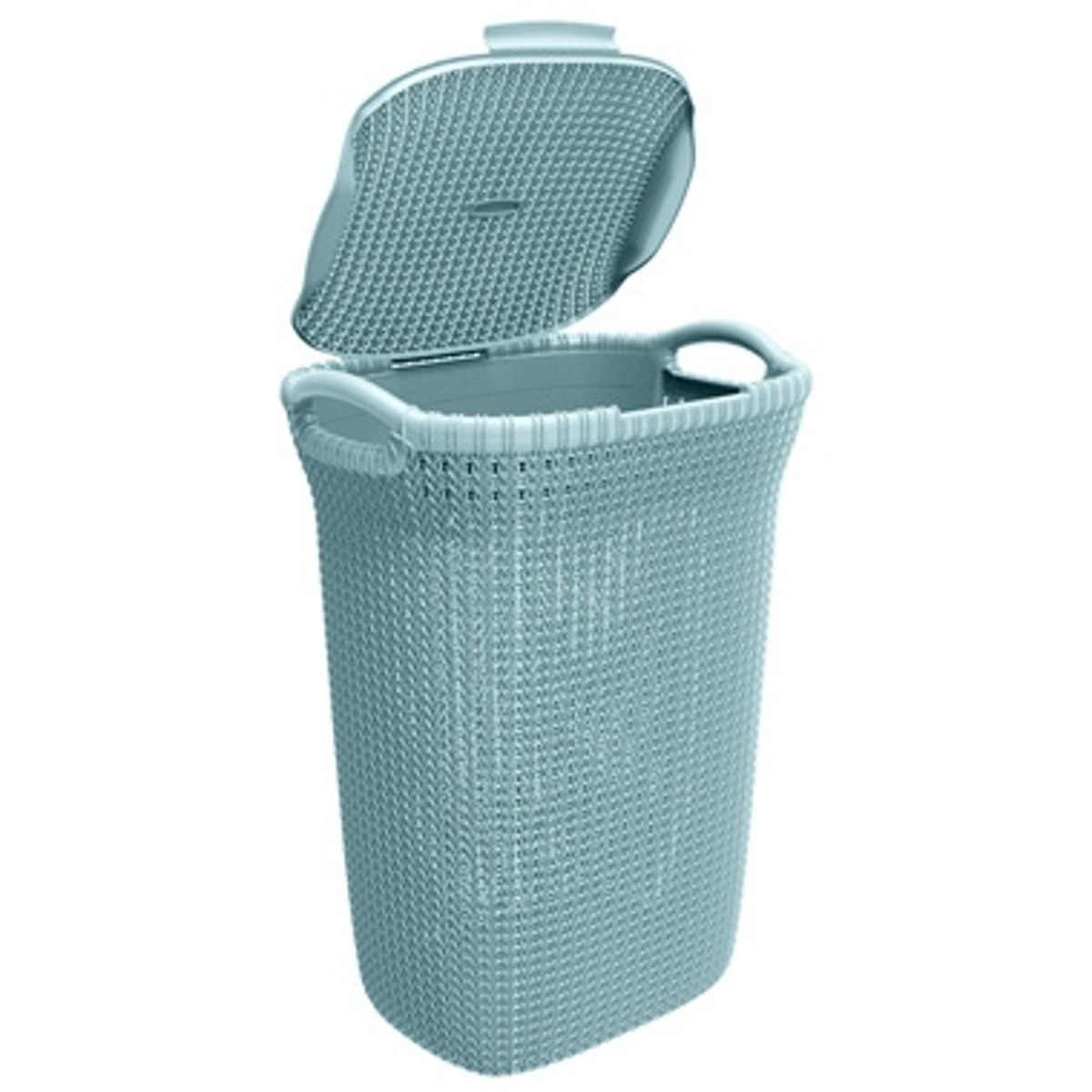 Wasmand Rek Affordable Curver Knit Wasbox L Misty Blue With Rieten