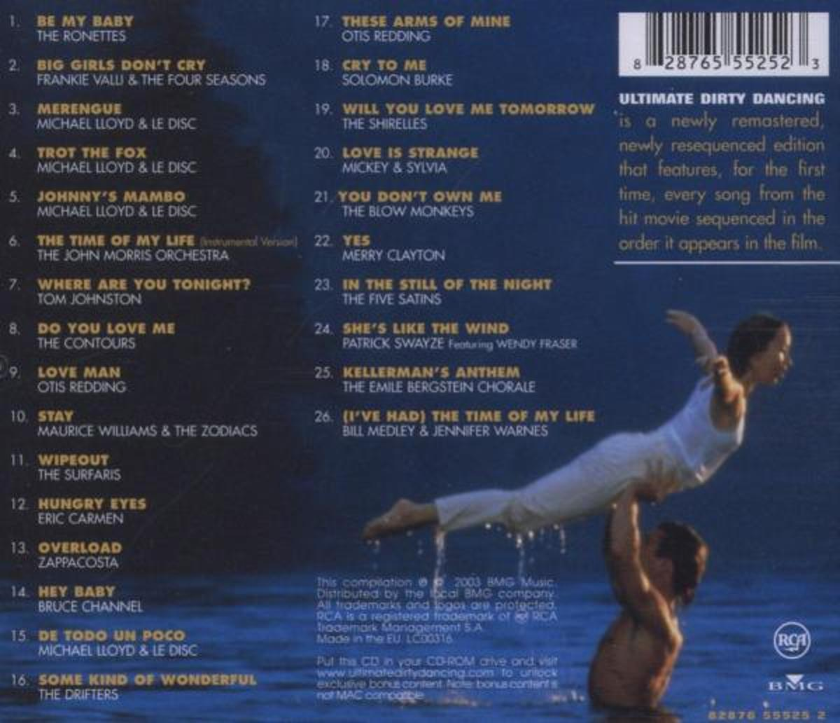 Dirty Dancing Muziek Bol Ultimate Dirty Dancing Original Soundtrack Cd Album