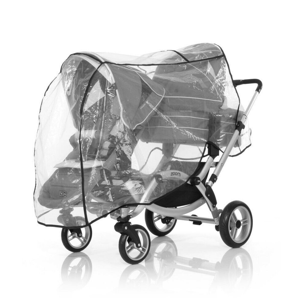 Tweeling Kinderwagen Abc Zoom Bol Abc Design Zoom Regenhoes