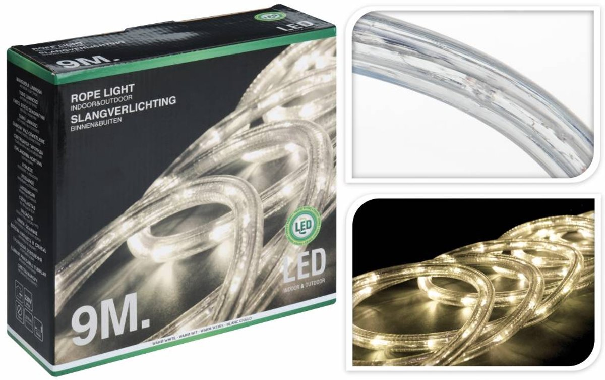 Led Slang Verlichting Warm Wit Lichtslang Led Warm Wit 9 Meter Slangverlichting