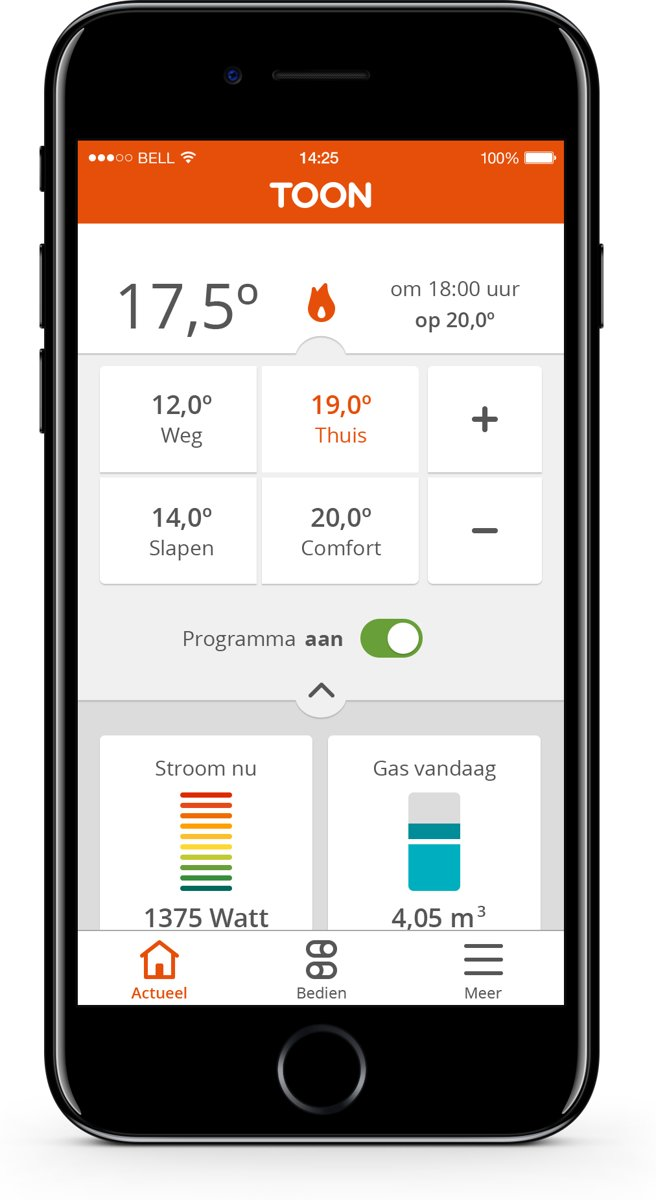 Eneco Stadsverwarming Thermostaat Toon Slimme Thermostaat Inclusief Montage