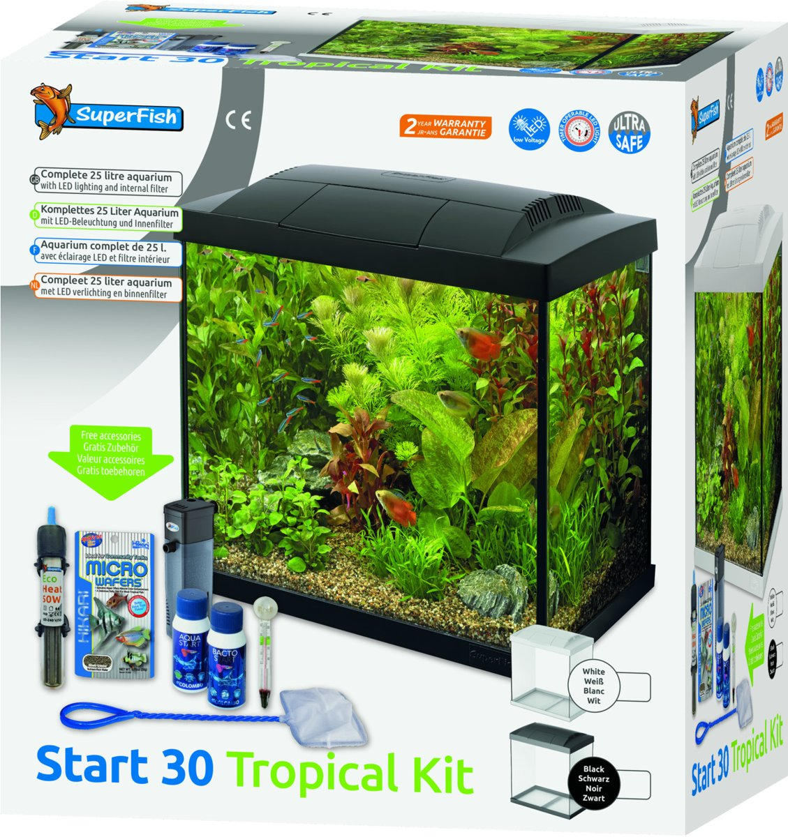 Aquarium Verlichting 30 Cm Superfish Start 30 Tropical Kit Wit