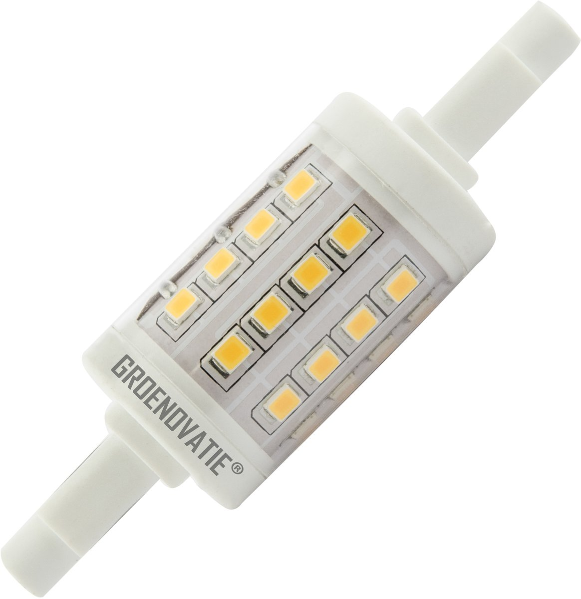 R7s Led Dimbaar Philips Groenovatie Led Lamp R7s Fitting 5w 22x78 Mm 360º Dimbaar Warm Wit