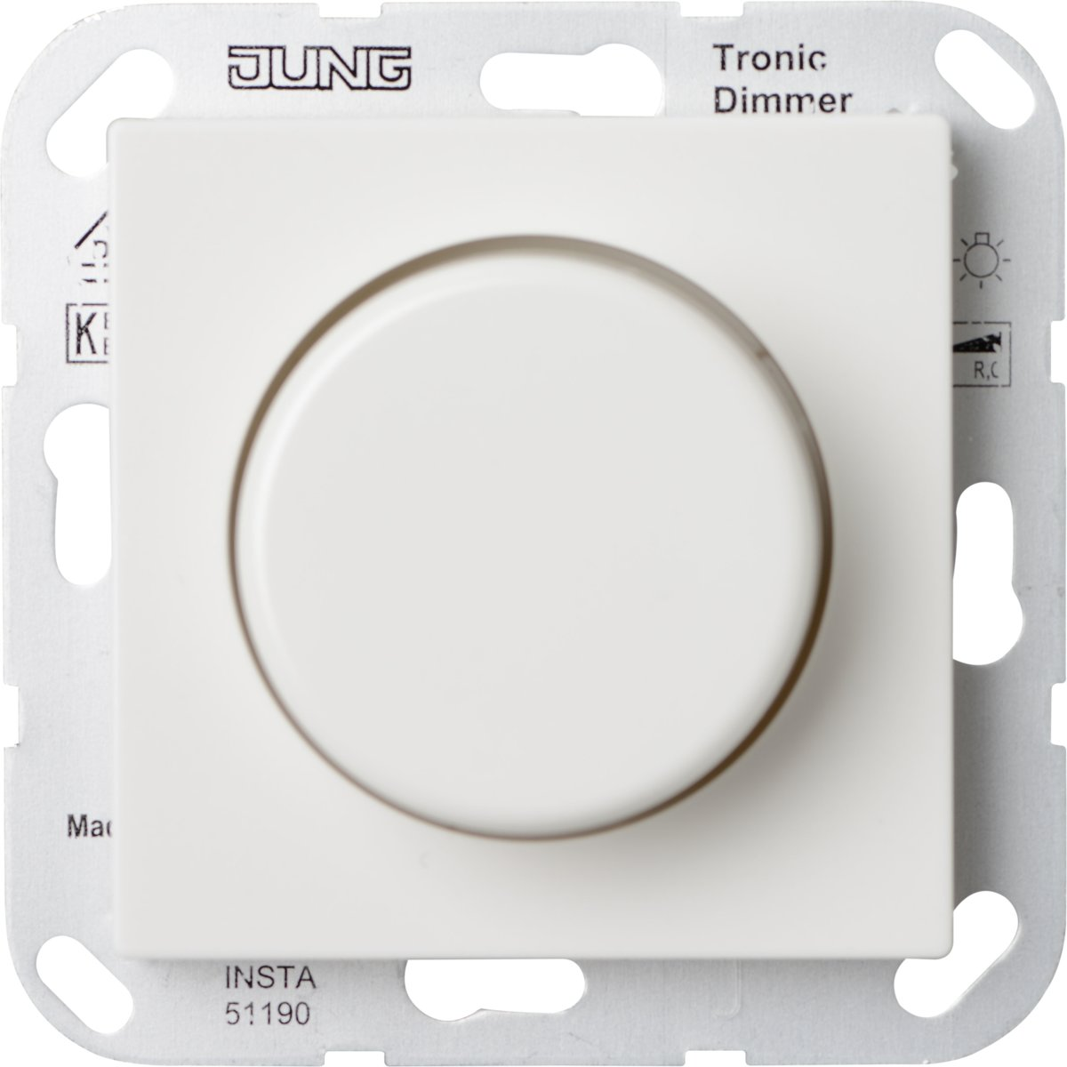 Jung Duo Dimmer Bol Jung As500 Inbouwdimmer Halogeen Elektrische Trafo Wit
