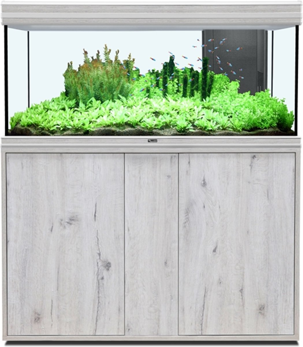 Aquatlantis Easy Led Verlichting Aquatlantis Fusion 120 Whitewash Aquarium 40mm Meubel 120x40x60 Cm 224l