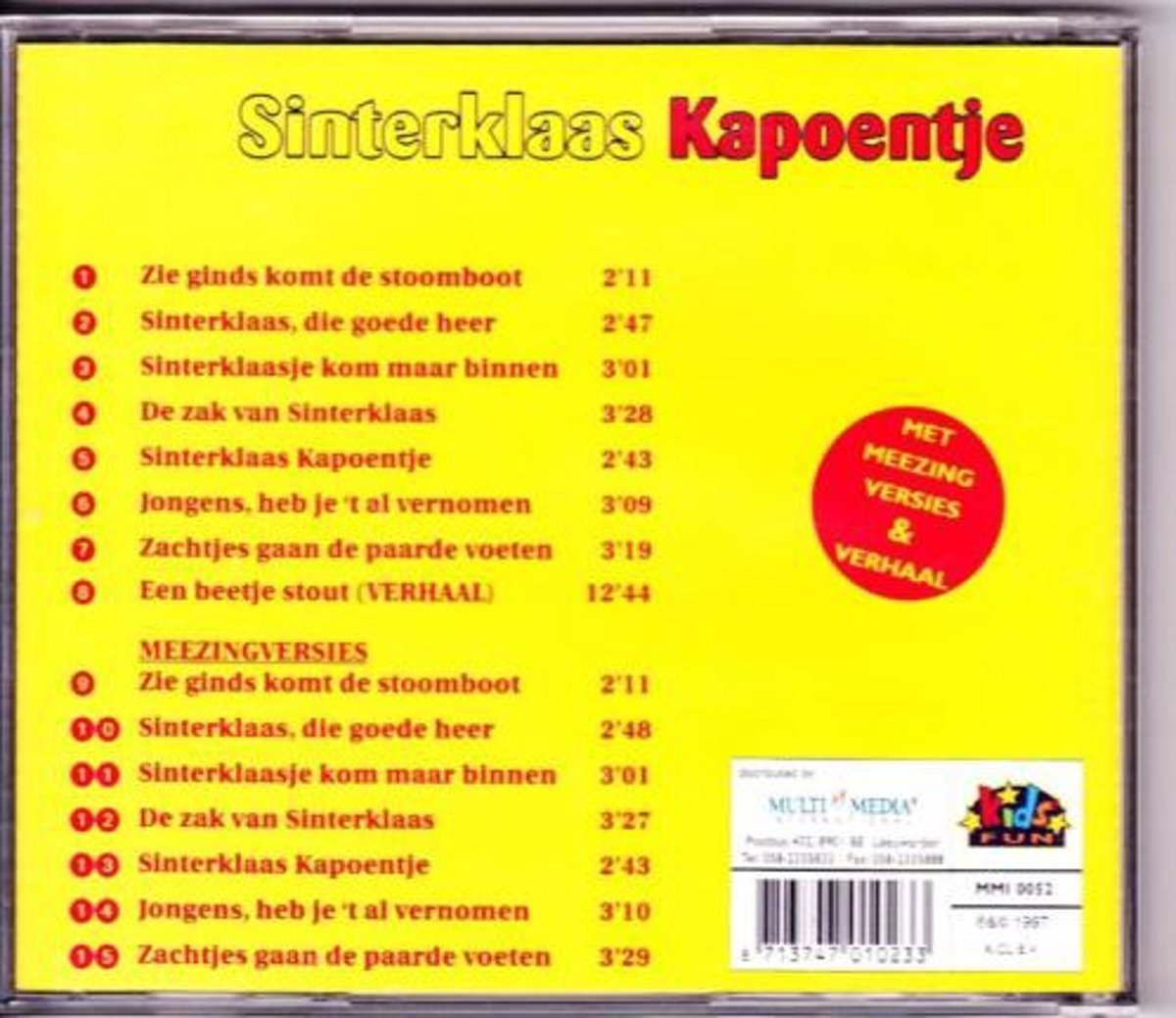 Sinterklaas Kapoentje Bol Sinterklaas Kapoentje Multi Media International Cd