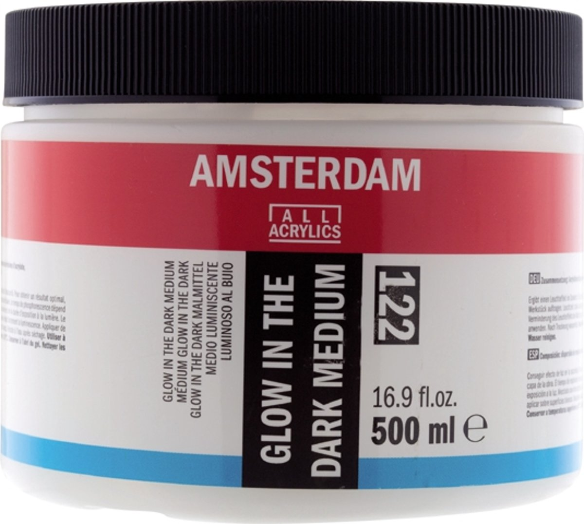 Amsterdam Acrylverf 500 Ml Amsterdam Schildermedium Flacon 500 Ml Glow In The Dark