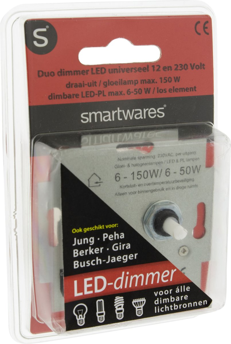 Jung Duo Dimmer Q Link S2 Universele Duo Led Dimmer Inbouw 6 50w
