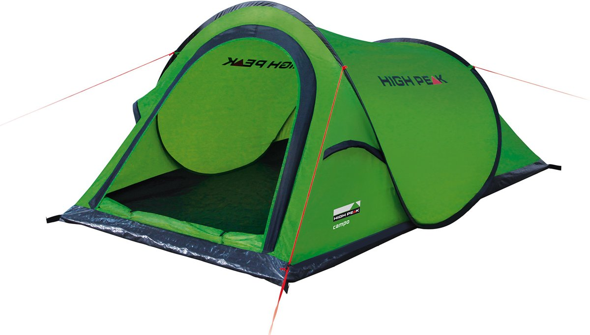 1 Persoons Pop Up Tent High Peak Campo Pop Up Tent 2 Persoons Groen