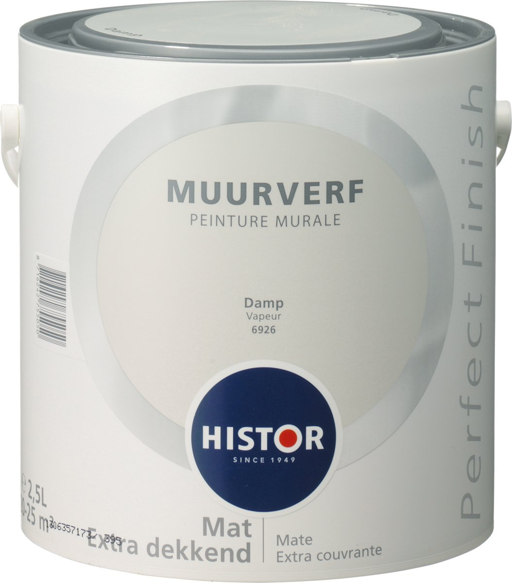 Histor Blauw Histor Perfect Finish Muurverf Mat 2 5 Liter Damp