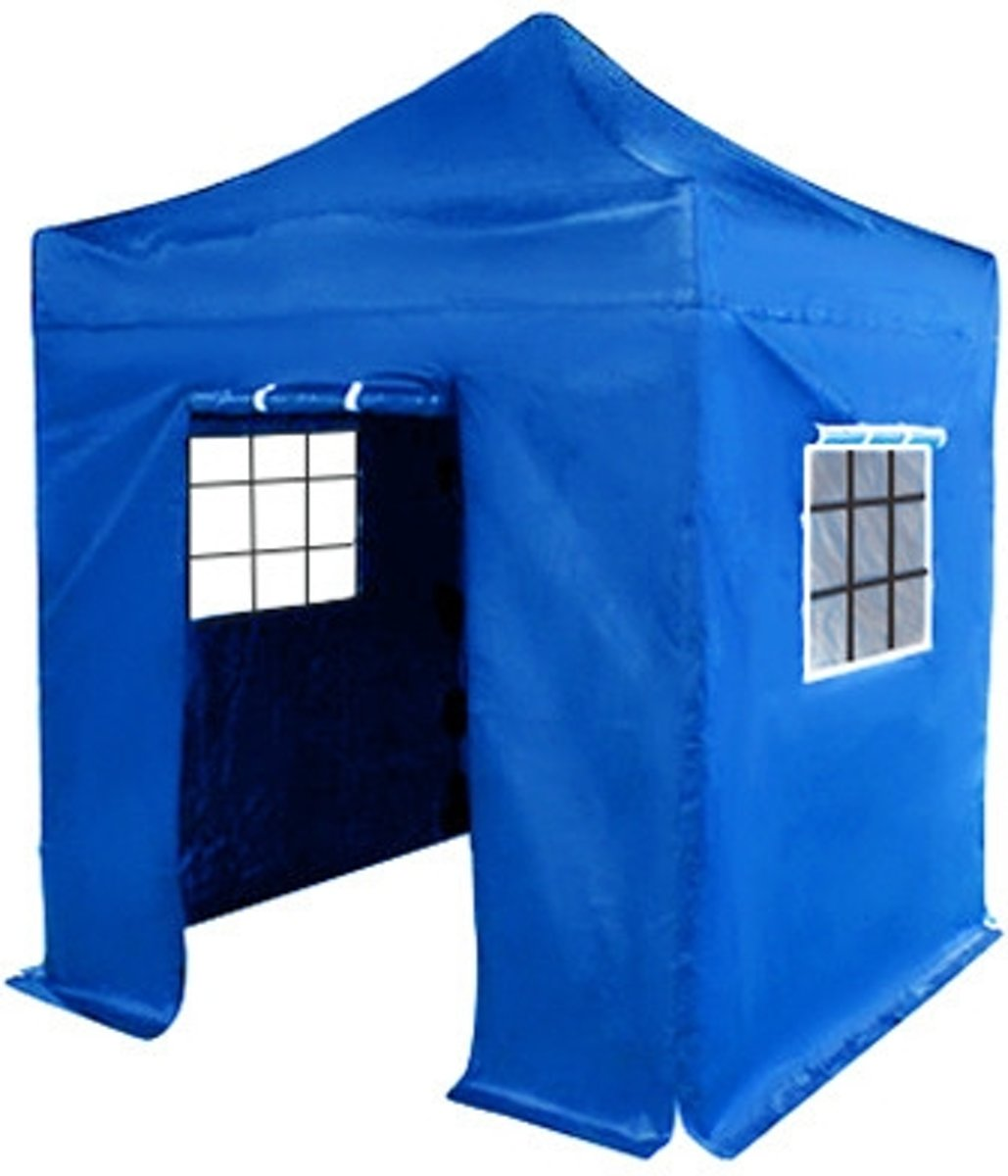 Zwembad 2x2m Easy Up 2x2m Blauw Luxe Partytent