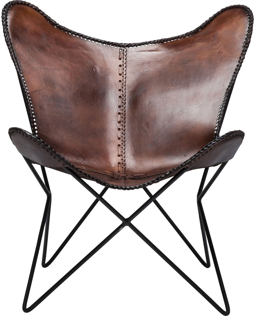 Butterfly Fauteuil Bol Kare Design Fauteuil Butterfly Brown Eco Bruin