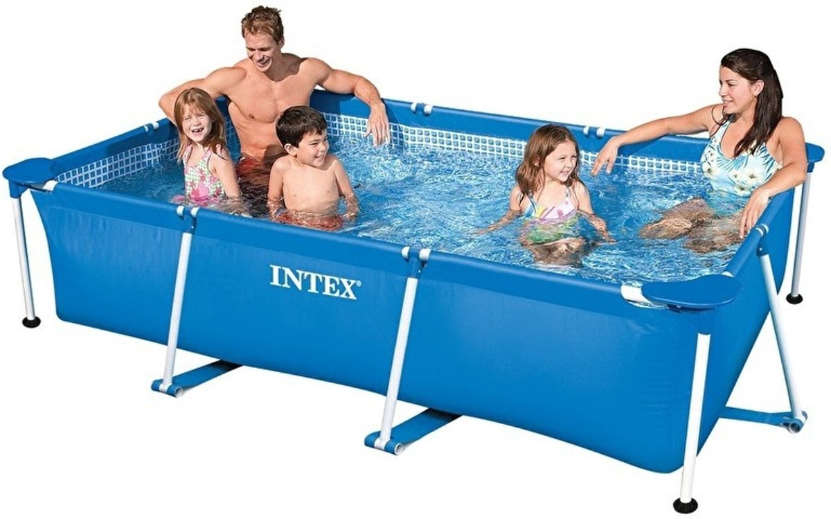 Intex Zwembad 2.60 X 1.60 Intex Rectangular Frame Pool Ages 6